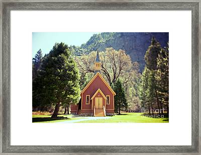 Yosemite Valley Chapel Lomo Framed Print