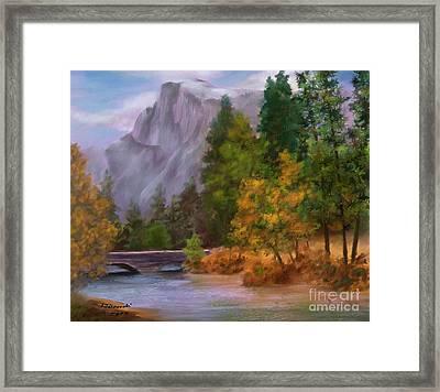 Yosemite Valley Half Dome Framed Print by Judy Filarecki