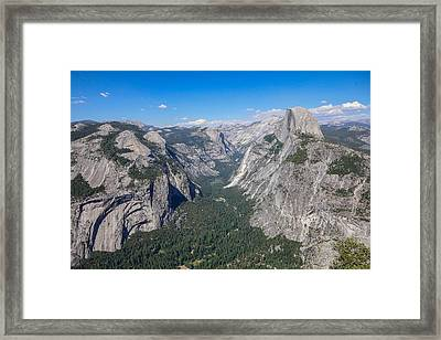 Yosemite Valley From Above Framed Print