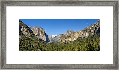 Framed Print featuring the photograph Yosemite Valley Moonrise by Steven Sparks