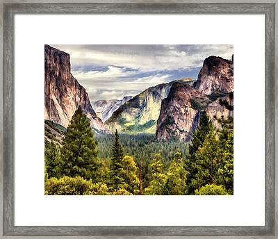 Yosemite Valley Painting Tunnel View Framed Print