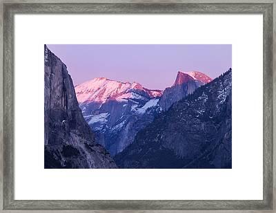 Yosemite Valley Panorama Framed Print
