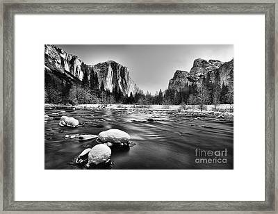 Yosemite Valley Framed Print by Peter Dang
