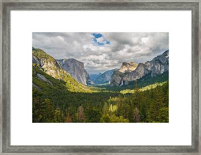 Yosemite Valley Framed Print by Sarit Sotangkur