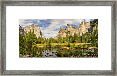 Yosemite Valley View Panorama Framed Print