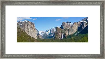 Yosemite Valley Visualized Framed Print