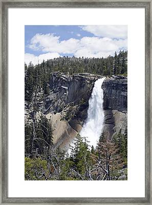 Yosemite's Nevada Fall Framed Print by Bruce Gourley