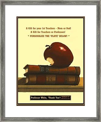 You Add Personalized Text On Plate  # 6 1 Framed Print