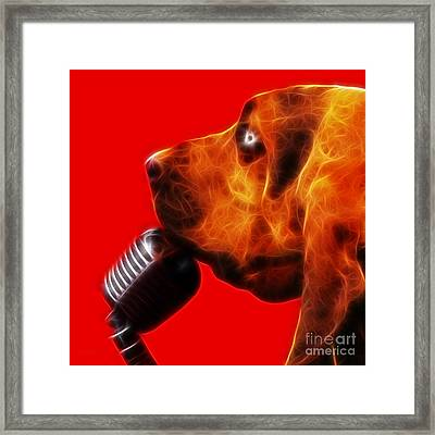 You Ain't Nothing But A Hound Dog - Red - Electric Framed Print by Wingsdomain Art and Photography