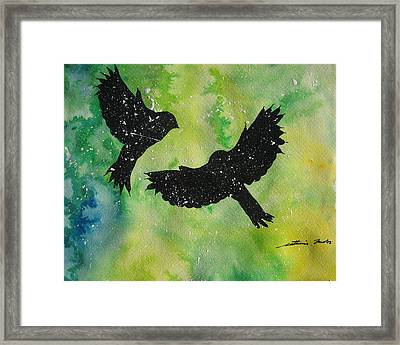 You And Me Against The World Framed Print by Cathy Jacobs