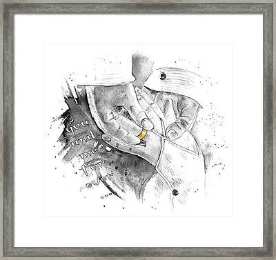 You And Me For Ever Framed Print by Miki De Goodaboom
