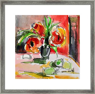 You Are Beautiful Framed Print by Becky Kim