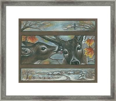 You Are Deer To Me Framed Print by Linda Nielsen