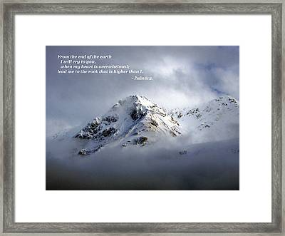 You Are God Framed Print