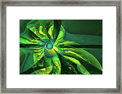 You Are Here --  Events Conspire -- Green Framed Print by Doug Morgan