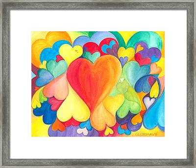 You Are Love - Tu Sei Amore Framed Print by Gloria Di Simone