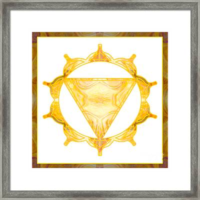 You Are My Sunshine Abstract Chakra Art By Omaste Witkowski  Framed Print by Omaste Witkowski