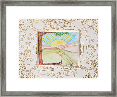 You Are My Sunshine Framed Print by Cassie Sears