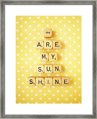 You Are My Sunshine Framed Print by Mable Tan