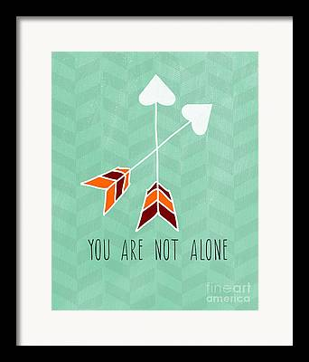 Not Alone Framed Prints