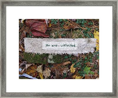 You Are Unlimited Framed Print by Linda Marcille
