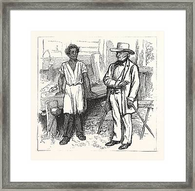 You Are Wading Through Deep Waters, Boy, Aint You  Alabama Framed Print