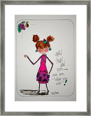 You Are What You Eat Framed Print by Mary Kay De Jesus