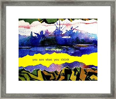 You Are What You Think Collage 2 Framed Print