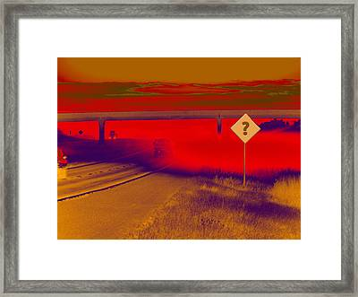 You Are Where Framed Print