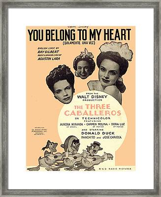 You Belong To My Heart Framed Print by Mel Thompson