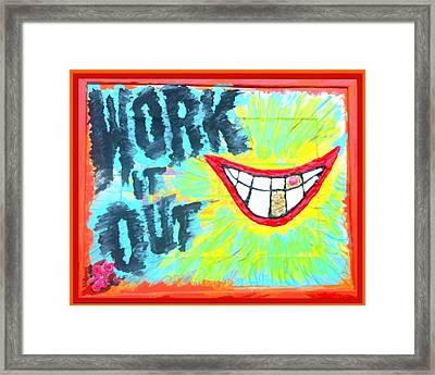 Framed Print featuring the painting You Better Work It Out by Lisa Piper