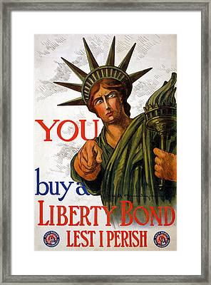 You Buy A Liberty Bond, 1917 Framed Print