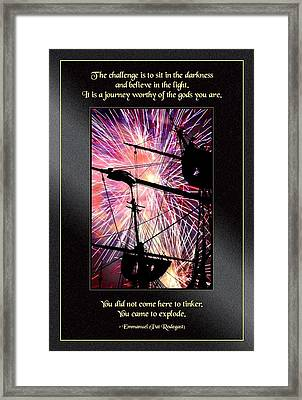 You Came To Explode Framed Print by Mike Flynn