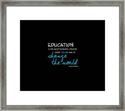 You Can Change The World Framed Print by Beth Schmidt