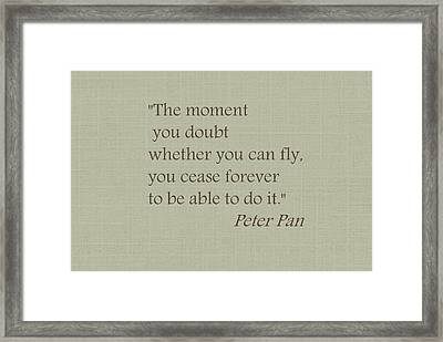 You Can Fly Framed Print by Chastity Hoff