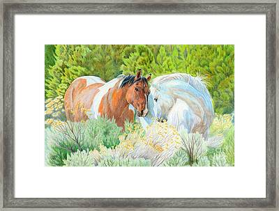 You Can Lean On Me Framed Print by Audrey Van Tassell