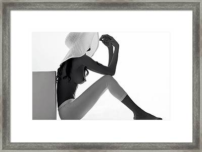 You Can Leave Your Hat On Framed Print