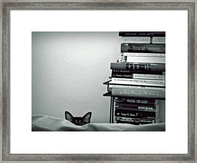 You Can Run But You Can't Hide Framed Print