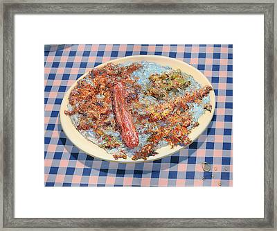 You Can't Eat Paint Framed Print by James W Johnson