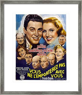 You Cant Take It With You, Aka Vous Ne Framed Print by Everett