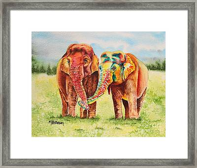 You Color My World Framed Print by Maria Barry