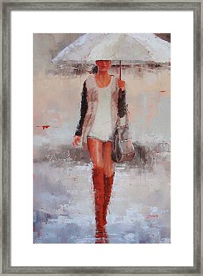 They're Waterproof  Framed Print by Laura Lee Zanghetti