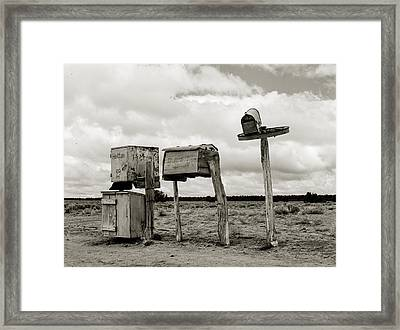 You Have Mail Circa 1940 Framed Print by Aged Pixel
