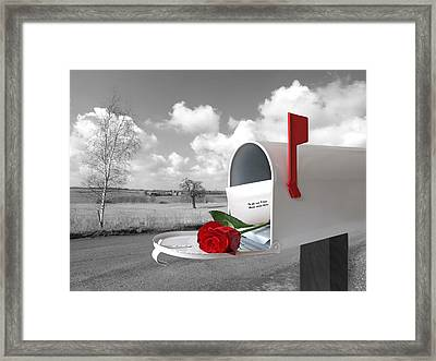 You Have Mail Framed Print by Gill Billington