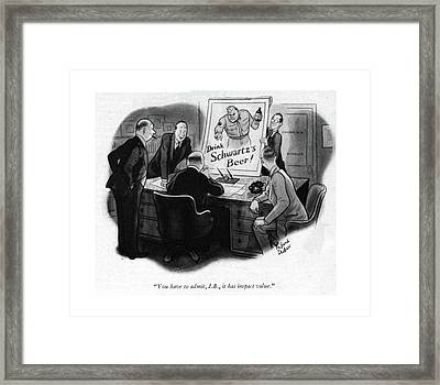 You Have To Admit Framed Print by Richard Decker