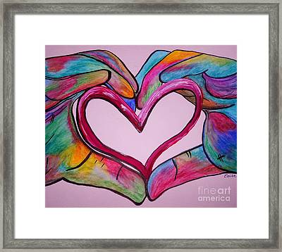 You Hold My Heart In Your Hands Framed Print by Eloise Schneider