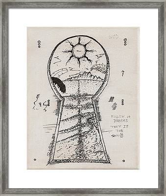 You Hold The Key Framed Print