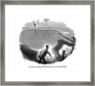 You Know Something Framed Print by Richard Decker