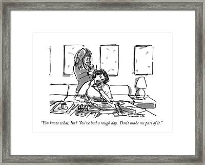 You Know What Framed Print by Michael Crawford