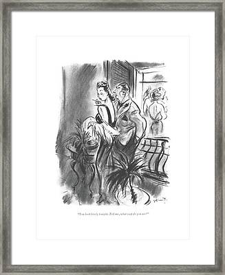 You Look Lovely Tonight. Tell Framed Print by William Galbraith Crawford